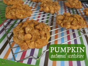 Pumpkin Oatmeal Scotchies | crumbsandchaos.net | #pumpkin #cookies #butterscotch #dessert