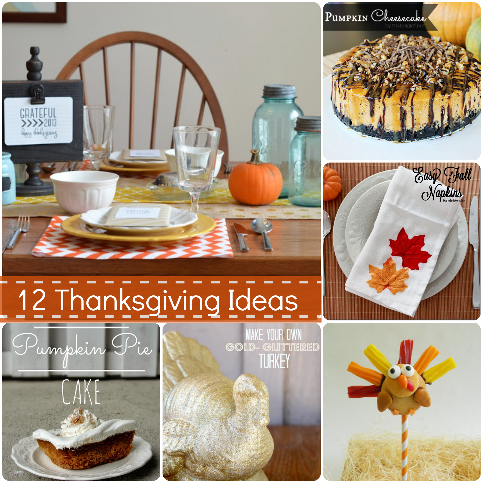 12 Thanksgiving Ideas from The Weekly Creative Link Party