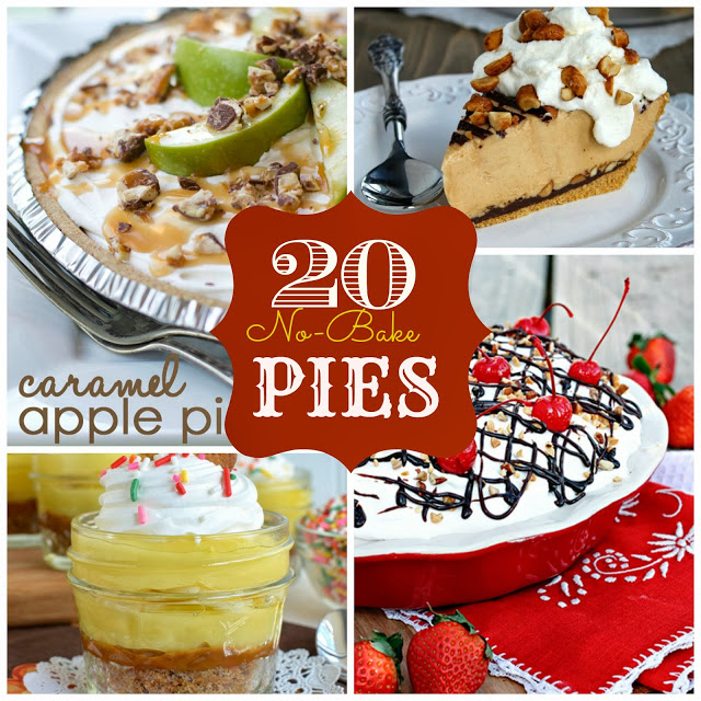 no-bake pie collage
