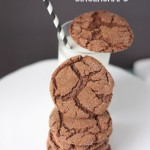 Soft Chocolate Gingersnaps |by Crumbs and Chaos on www.tasteandtellblog.com #Christmas #cookies