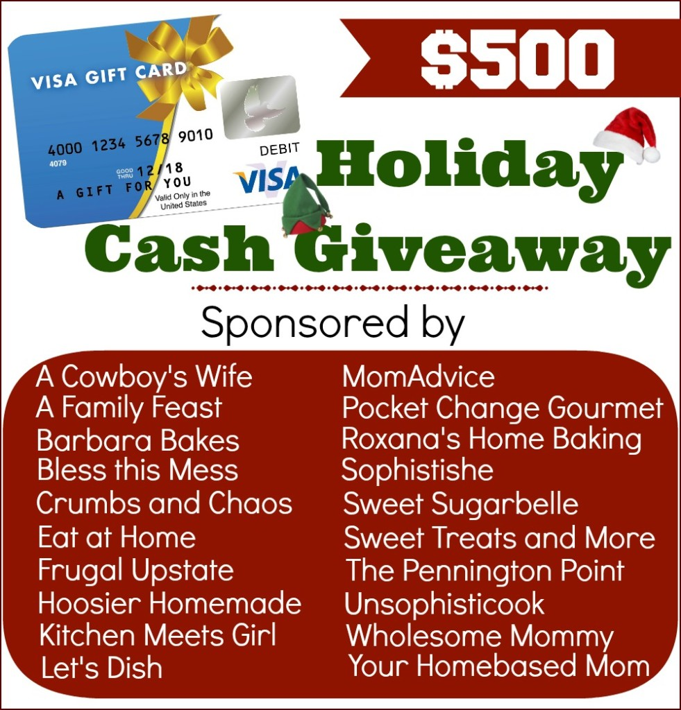 Holiday Cash Giveaway on Crumbs and Chaos