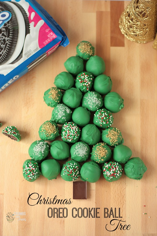 Christmas Oreo Cookie Ball Tree