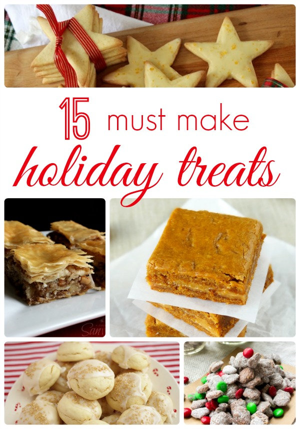 15 Must Make Holiday Treats featured on Crumbs and Chaos