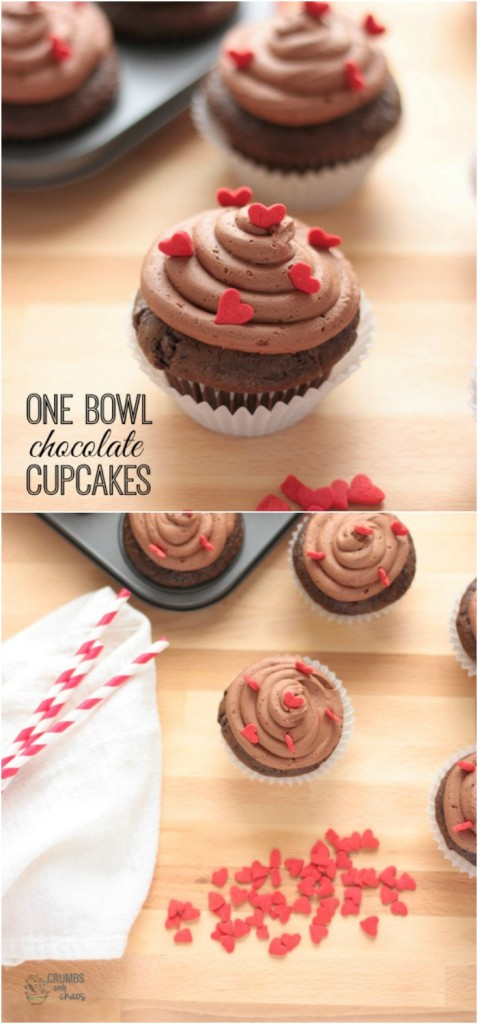 One Bowl Chocolate Cupcakes are an easy way to get your chocolate fix!