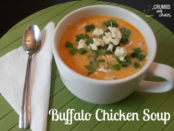 Buffalo Chicken Soup | crumbsandchaos.net | #buffalo #chicken #soup