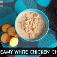 Creamy White Chicken Chili | crumbsandchaos.net | #chili #chicken #soup
