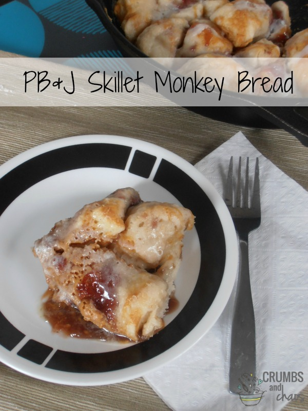 PB&J Skillet Monkey Bread