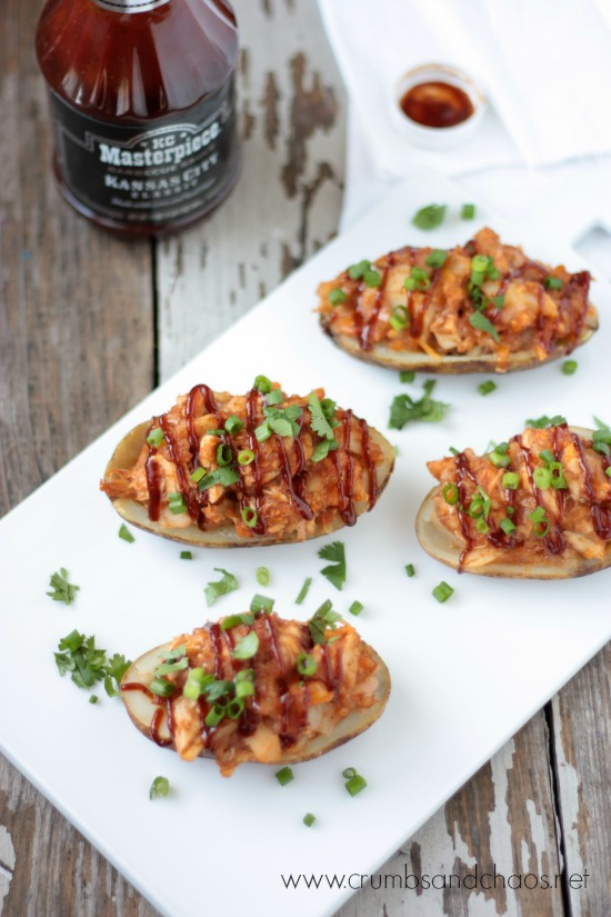 BBQ Chicken Twice Baked Potatoes | Crumbs and Chaos