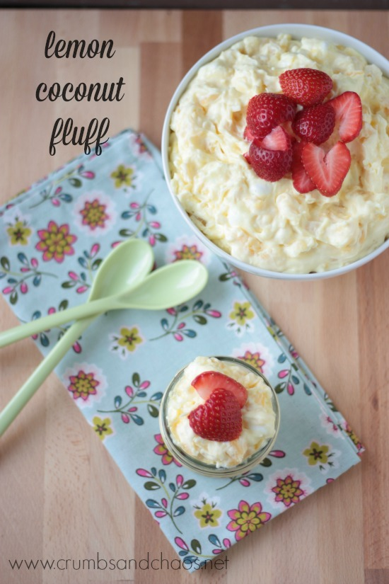 Lemon Coconut Fluff | Crumbs and Chaos