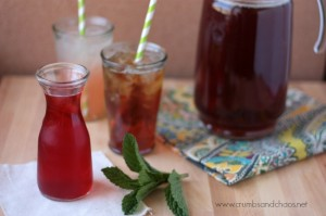trawberry Mint Syrup | Crumbs and Chaos