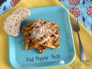 Red Pepper Pesto | crumbsandchaos.net |#pesto #pasta #dinner