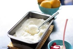 Lemon Buttermilk Sherbet | Crumbs and Chaos