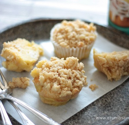 French Toast Muffins with Cream Cheese Streusel
