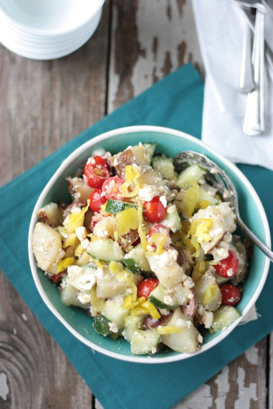 Greek Potato Salad | Crumbs and Chaos