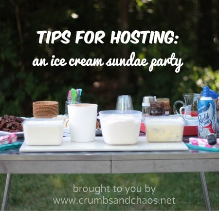 Tips for Hosting an Ice Cream Sundae Party