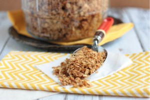 Family Size Batch Basic Granola | recipe on www.crumbsandchaos.net