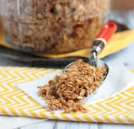 Family Size Batch Basic Granola | recipe on www.crumbsandchaos.net