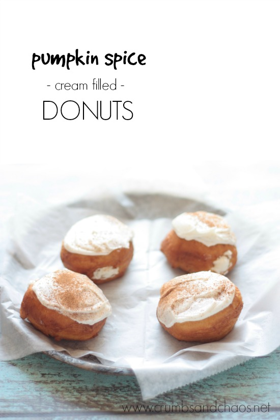 Pumpkin Spice Cream Filled Donuts