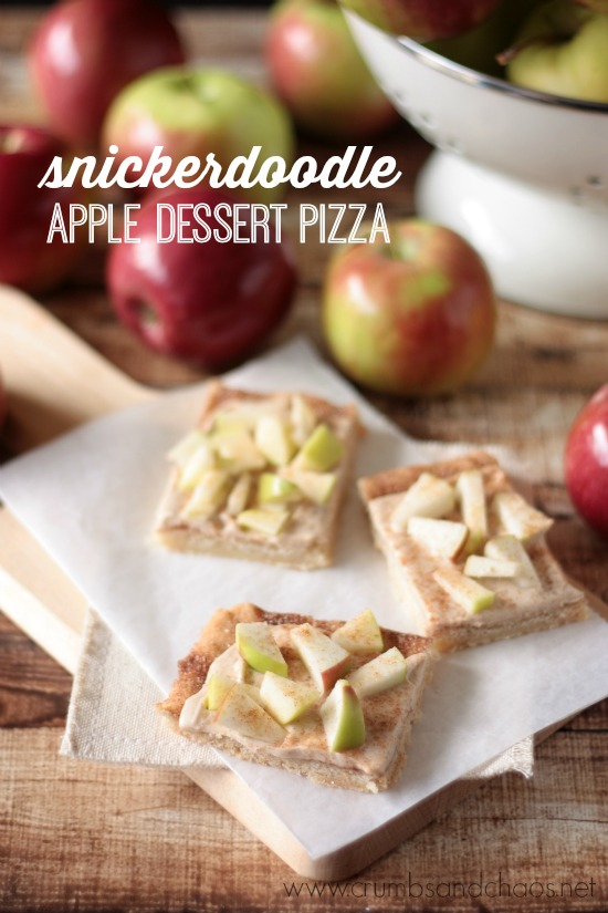Snickerdoodle Apple Dessert Pizza | Crumbs and Chaos