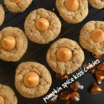 Pumpkin Spice Kiss Cookies | crumbsandchaos.net | #pumpkin #cookies #hersheys