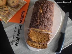 Pumpkin Zucchini Bread   crumbsandchaos.net   #bread #pumpkin #zucchini