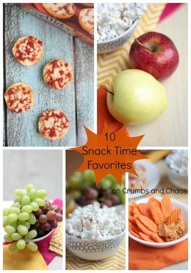 10 Snack Time Favorites on www.crumbsandchaos.net