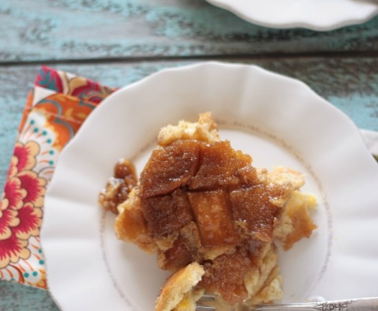 Caramel Pumpkin Spice French Toast Bake | Crumbs and Chaos