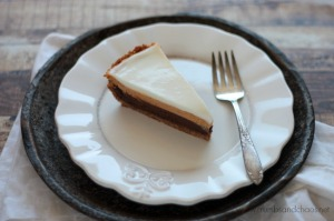 Triple Layer Pumpkin Chocolate Pie | recipe on www.crumbsandchaos.net