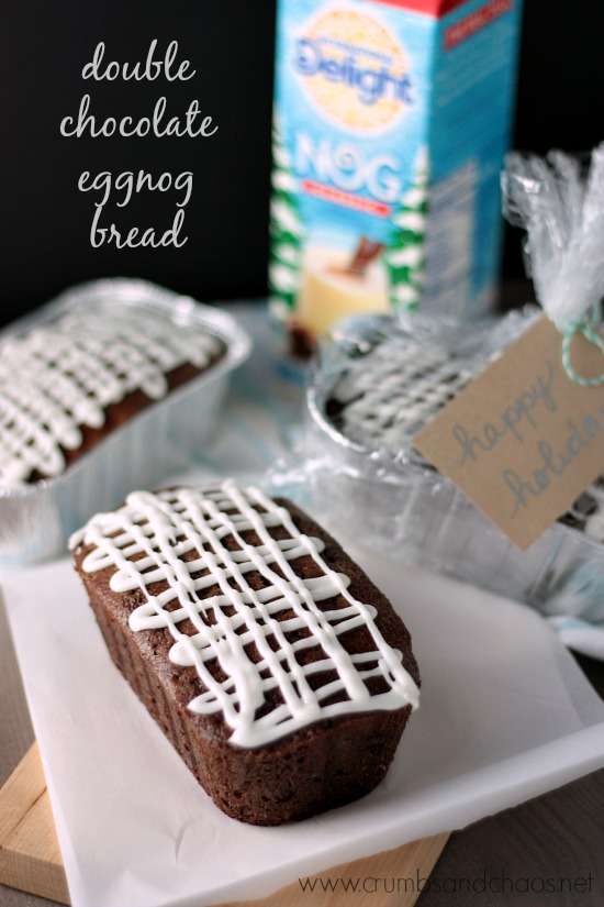 Double Chocolate Eggnog Bread | Crumbs and Chaos