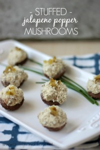 Stuffed Jalapeno Popper Mushrooms | Crumbs and Chaos