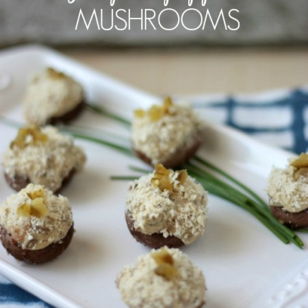 Stuffed Jalapeno Popper Mushrooms