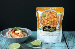 Thai Coconut Curry with Lime Basil Rice | Crumbs and Chaos
