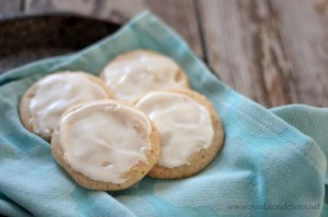 Glazed Eggnog Cookies | recipe on www.crumbsandchaos.net