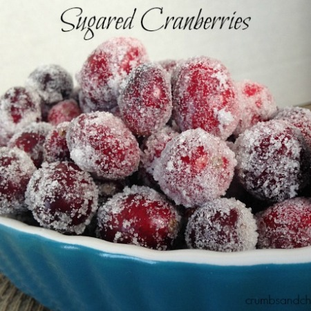 Sugared Cranberries | crumbsandchaos.net | #cranberry #dessert #Christmas