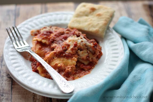 Ravioli Lasagna   Crumbs and Chaos