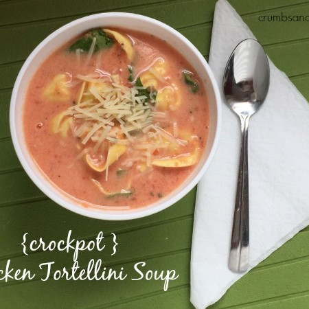 {crockpot} Chicken Tortellini Soup