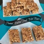 Peanut Butter Trail Mix Bars | crumbsandchaos.net | #snacks #granola #kids