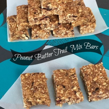 Peanut Butter Trail Mix Bars | crumbsandchaos.net | #snacks #granola #kids