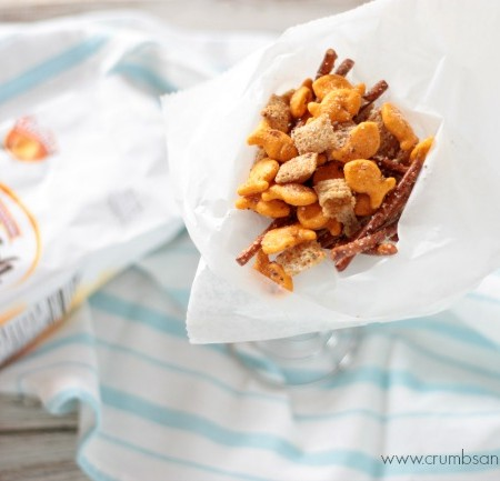 Cheesy Garlic Snack Mix {+ a Goldfish® Tale}