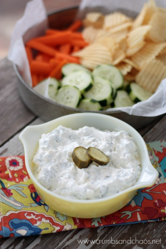 Dill Pickle Dip | Crumbs and Chaos