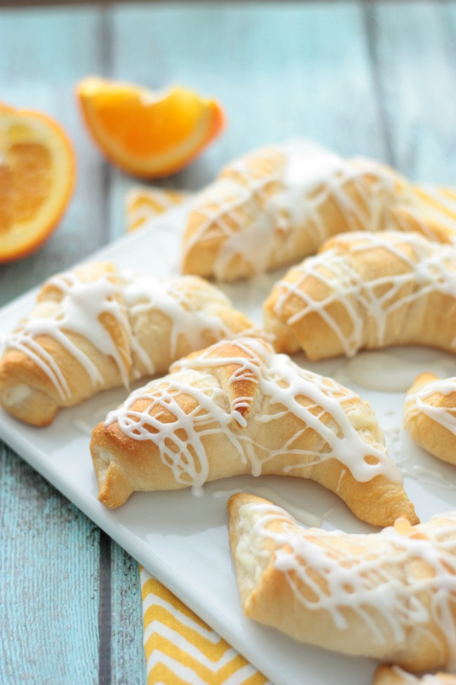 Orange Danish Crescent Rolls | recipe by Crumbs and Chaos