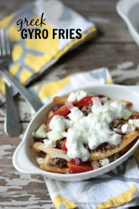 Greek Gyro Fries | Crumbs and Chaos