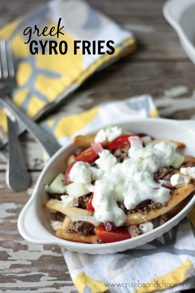 Greek Gyro Fries   Crumbs and Chaos