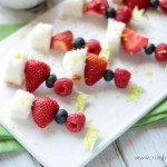Lemon Berry Fruit Kabobs | Crumbs and Chaos