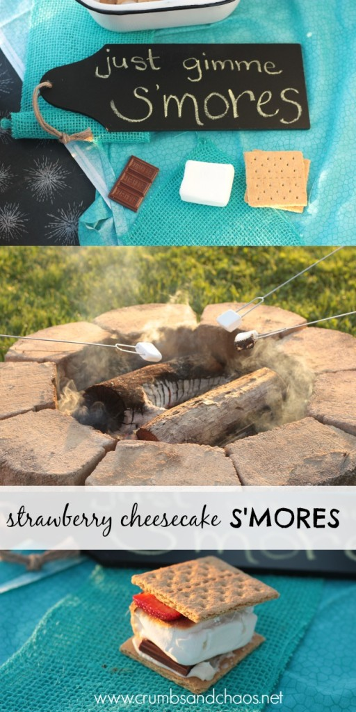 Strawberry Cheesecake S'mores + what to put on your next s'mores bar | Crumbs and Chaos
