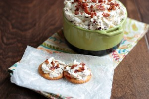 Bacon Olive Cheese Spread | recipe by Crumbs and Chaos