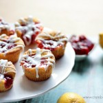 Mini Lemon Cherry Cakes | recipe on Crumbs and Chaos