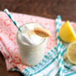 Lemon Cream Pie Milkshake | recipe by Crumbs and Chaos