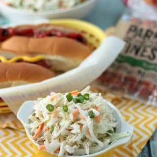 Family Favorite Cole Slaw | Crumbs and Chaos An easy, make ahead side for any BBQ or gathering!