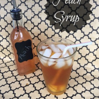 Peach Syrup | crumbsandchaos.net | #peach #syrup